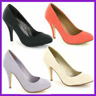 LADIES COURT SHOES WITH SLIM HEEL SPOT ON F9538