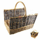 FIRESIDE LOG BASKET WITH CARRY HANDLES TWOTONE LOG BASKET COMPANION WOOD STORAGE