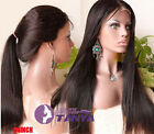 silky Straight Brizilian remay huamn hair full/front lace wig natural hair line
