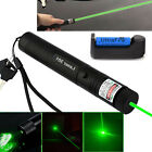 Military 5mw 532nm Zoomable Focus Burning Green Laser Pointer Pen 301+Battery