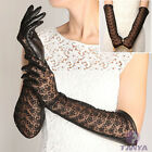 NEW WARMEN Women's long GENUINE Kid leather Unlined Lace gloves