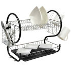 2 TIER CHROME PLATE DISH CUTLERY CUP DRA...