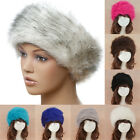 Ladies Luxury Soft Faux Fur Headband Winter Ear Warmers Russian Cossack Ski Ha