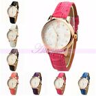 Fashion Colorful Sexy Lady Girl Women's Quartz Leather Sport Dress Wrist Watch