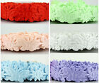 """20yards 5/8"""" Flower Butterfly Ribbon Fabric Applique Craft /Wedding/Packaging"""