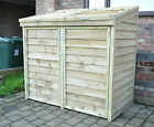 Double Wheelie Bin Tidy Store/Cover/Shed/Storage Unit, With Recycling Box Option