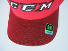 CCM TAVARES 7150 FULL BACK HOCKEY HAT! Fitted Cap SR All Sizes S M L XL Red