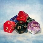 Marble poly dice set D&D AD&D warhammer Plastic Adults Children Family Modern