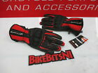 Buffalo Racetex Leather Textile Motorcycle Summer Bike Scooter Gloves - RED