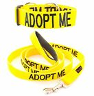 Dog Collar 2 4 6 Foot Leash Set Color Coded Yellow ADOPT ME Helpful Awareness