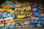 handmade 100% cotton front & flannel back baby/toddler blankets boys group 4