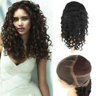 "New Women 12""-20"" front full lace wigs curl wave brazilian remy human hair wig"