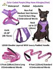 Dogs Harness Vest Color Coded Do Not Feed Leash Sets Chest S M Padded Waterproof