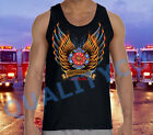 New FIREFIGHTER Black Tank Top American Fire Fighter Rescue EMS Dept USA