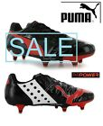 Puma evoPOWER 4 SG (Soft Ground) Black/Grenadine Mens Football Boots Mix sizes