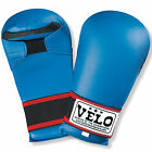 VELO Karate Mitts Elite Sparring Competition Martial Arts Kickboxing Gloves Blue