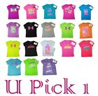 GIRLS UNDER ARMOUR T-SHIRT CUTE SAYINGS CHILDREN KIDS CLOTHES SPORTS ATHLETIC