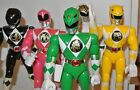 "mighty morphin power rangers action figures Green Blue Yellow 8"" White Black Red"
