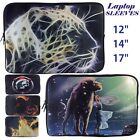 "12"" 14"" 17"" Laptop Bag Notebook Padded Sleeve Animals Fantasy Zipped Carry Case"