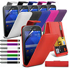 PU Leather Top Flip Case Skin Cover Pen+Film+Pen fits Samsung Galaxy Ace Style