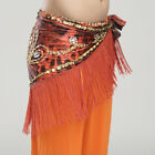 2015 Women Belly Dance Costumes Hip Scarf Wrap Belt Gold Beads Sequins Fringes