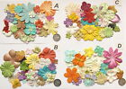 SCRAPBOOKING NO 91 - 16 MIXED PRIMA PAPER FLOWERS - 8 DIFFERENT PACKS AVAILABLE