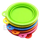 Portable Silicone Collapsible Travel Feeding Bowl Water Dish Feeder Cat Dog Pet