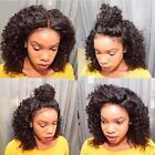 Long  Kinky Curly 100% Brazilian Human Hair full lace wigs/lace front wigs