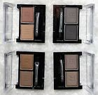 Compact Eyebrow or Eyeshadow Powder 2 Shade Palette Kit & Brush- 4 Colours