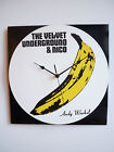 "The Velvet Underground & Nico - 12"" LP Vinyl Record Clock, Andy Warhol"