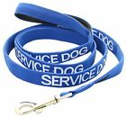 Color Coded Leash SERVICE DOG Blue Short Long Awareness Comfort Grip Nylon S M L
