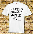 Cassius Clay Float like a Butterfly T Shirt Black White Red or Blue