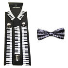 Men's Novelty Suspenders Braces with Matching Bow Tie - 14 Designs