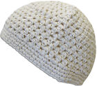100% Cotton KUFI Crochet Beanie Skull Cap Knit Hat Men Women 12 Colors NEW 632