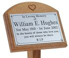 18 Inch Tall Heart Oak Grave Tree Marker Engraved Plaque Memorial Stake for Baby