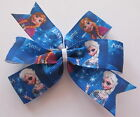 Anna & Elsa Hair Bows Inspired by Disney's Frozen - Clips Or Bobbles (Design #4)