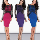 Ladies Top Asymmetric Sexy Prom Lace Party Dress Slim Evening Pencil Dress New