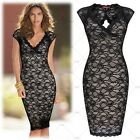 Womens Open Back Vintage Lace Fashion Bodycon Cocktail Evening Dresses Clubwears