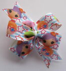 LalaLoopsy Hair Bows - Pinwheel Bow, Clips Or Bobbles (Design #1)