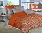 4pc 100% Cotton Orange TREE Duvet Cover & Fitted Sheet & Pillowcases Queen