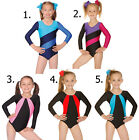 Girls Gymnastics Lycra Leotard Gym/ Dance Roch Valley. Age 5,6,7,8,9,10,11,12,13