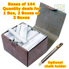 Flat french chalk welders engineers talc sticks Box 144 or optional chalk holder