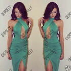 Womens Sexy Summer Party Bodycon Evening Gown Prom Black Turquoise Ladies Dress