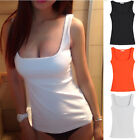 Sexy Women Low Cut Scoop Neck Cami Tank Top Sleeveless Fitness Tee Shirt S-2XL
