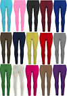 NEW GIRLS PLAIN VISCOSE LEGGINGS CHILDREN STRETCHY LEGGING PANTS SIZE 2-13 YEARS
