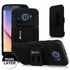 Dual Layer Holster Cover Swivel Stand Case for Samsung Galaxy S6 with Belt Clip