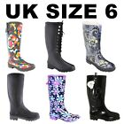 Fashion Garden Rubber Wellington Boots Festival Dog School Walking Wellies Shoes