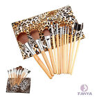 Original wood 12pcs Leopard Make up Brush sets Toiletries