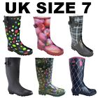 Fashion Rain Wellington Boots Festival Dog School Walking Rubber Garden Wellies