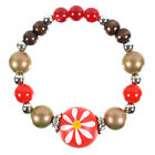Expandable Red Colour Bead Bracelet